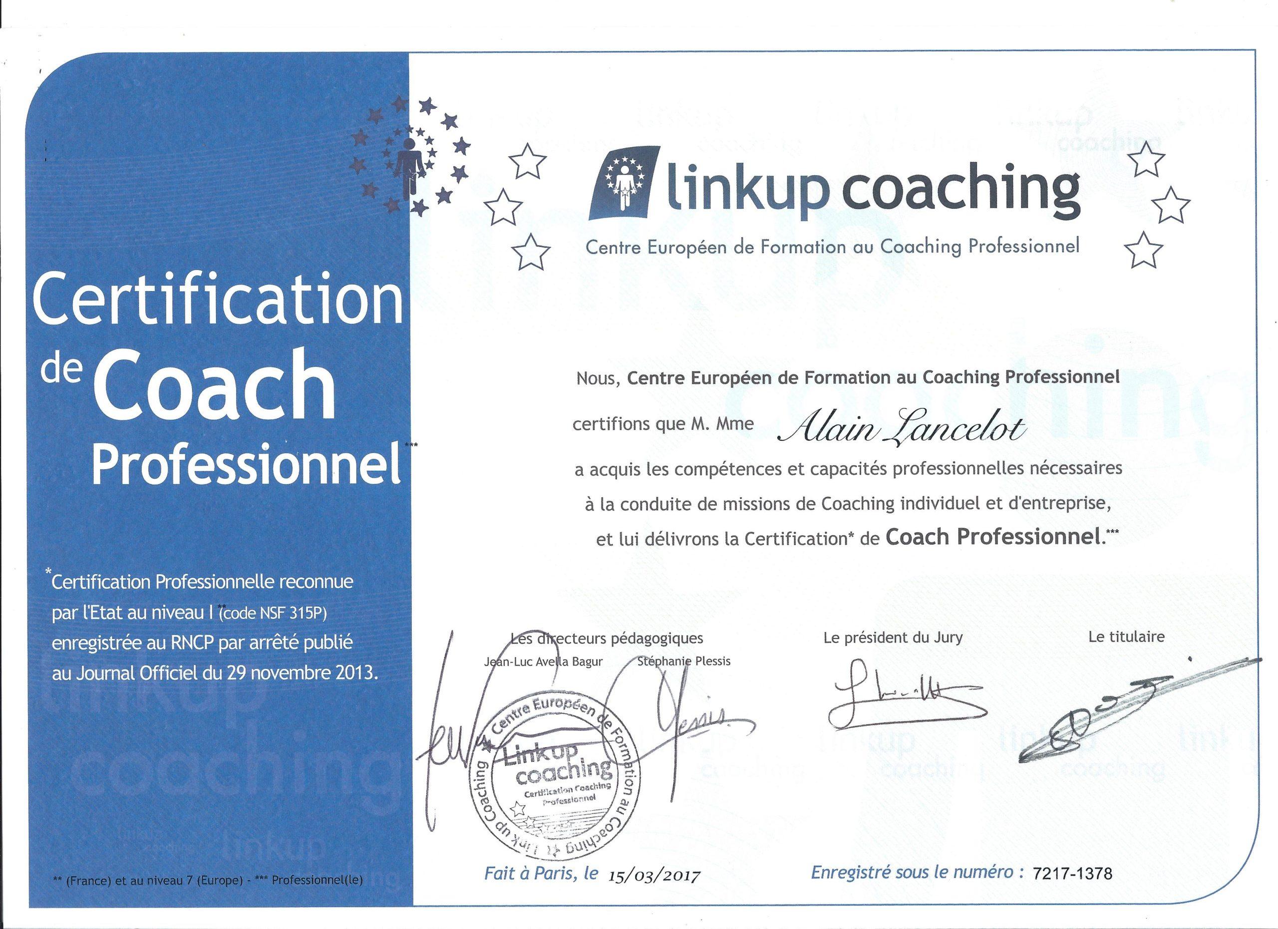 certificat de coach professionel RNCP pour -faisons connaissance-
