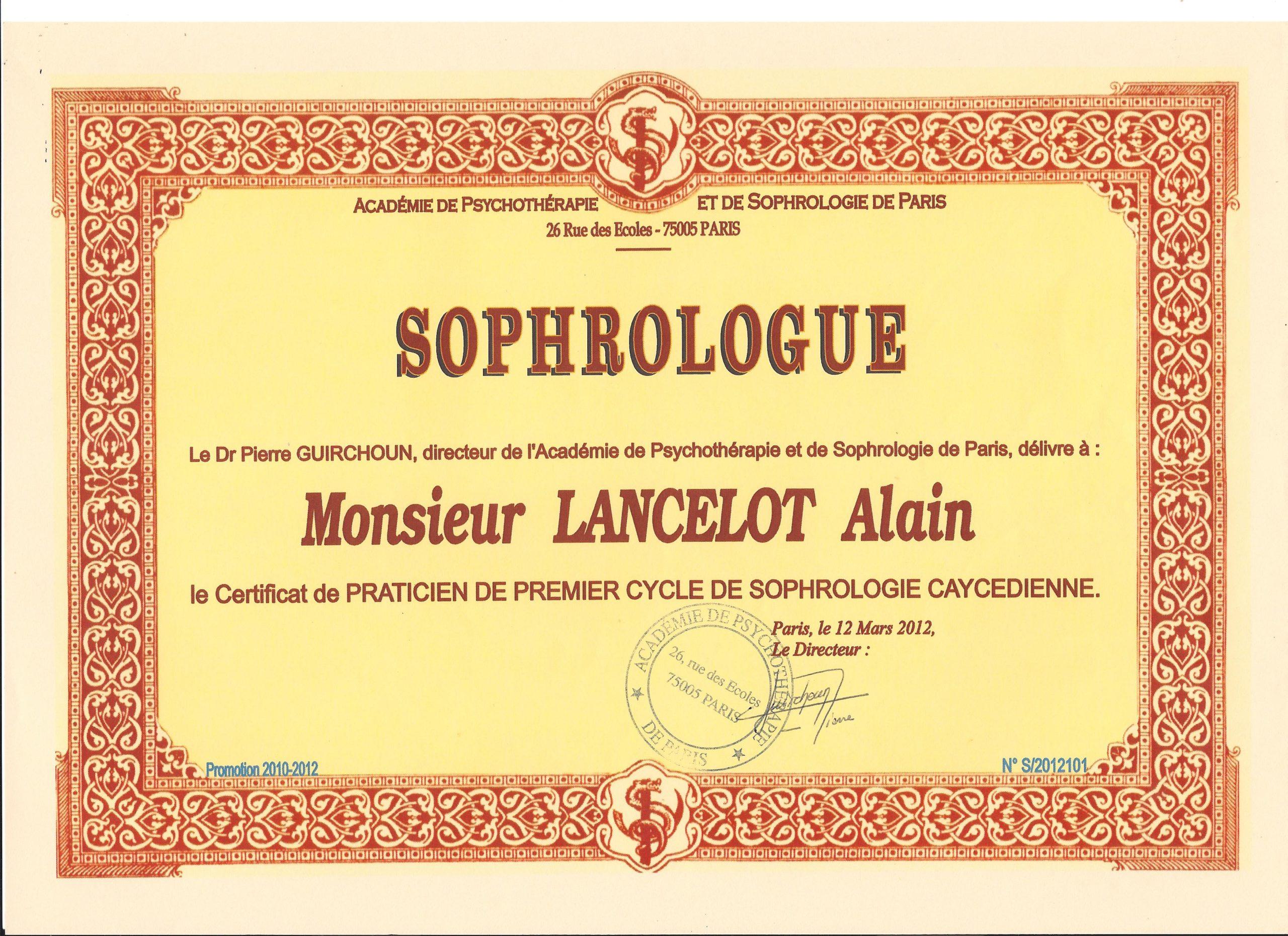 certificat sophrologie cacédienne pour - faisons connaissance-